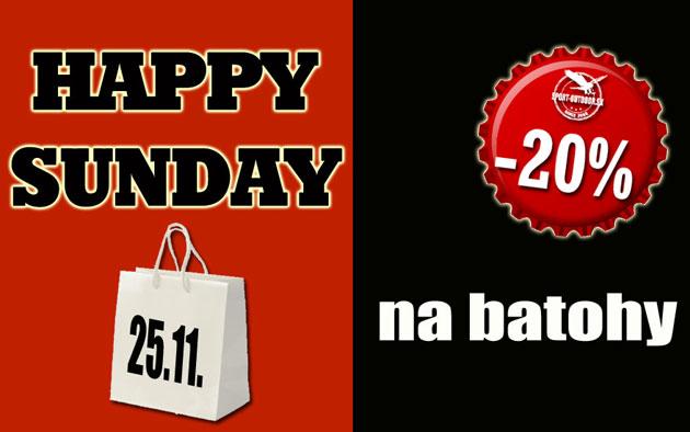 e2d879d657aa Happy Sunday - 20% sleva na batohy