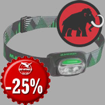 15.12. - Mammut T-Base headlamps today for 14.90 Eur