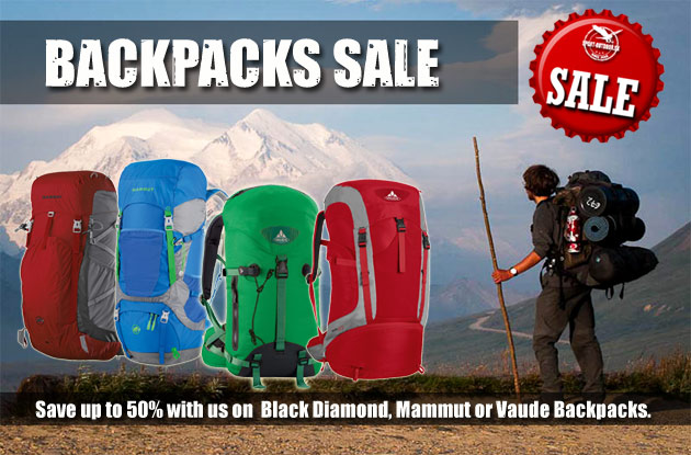 Save up to 50% on Backpacks now!