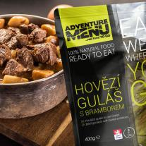 Meals and Sports Nutrition ADVENTURE MENU - Beef goulash with boiled potatoes