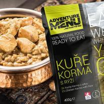 Meals and Sports Nutrition ADVENTURE MENU - Chicken Korma with Rice