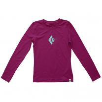 T-Shirt - Long Sleeve BLACK DIAMOND Curl LS Tee violet