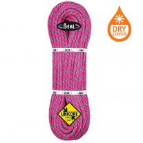 Ropes - single rope BEAL Tiger Unicore 10.0 mm Dry Cover 70m fuchsia