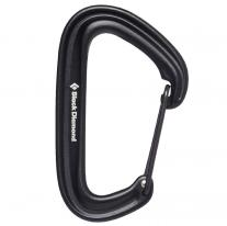 Non-locking carabiners carabiner BLACK DIAMOND LiteWire Black