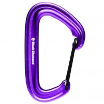 Non-locking carabiners carabiner BLACK DIAMOND LiteWire Purple