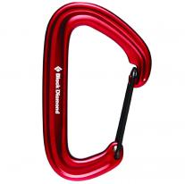 Non-locking carabiners carabiner BLACK DIAMOND LiteWire Red