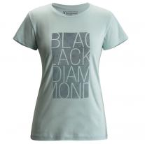 Outdoor Clothing BLACK DIAMOND W SS Block Tee glacial blue