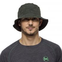 Accessories BUFF Trek Bucket Hat Checkboard Moss Green