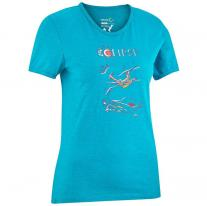 Outlet Clothing Women EDELRID Wo Highball Tee III icemint