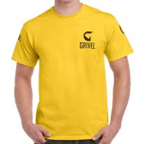 GRIVEL T-Shirt Logo yellow
