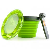Hrnčeky, poháre GSI OUTDOORS Collapsible Fairshare Mug green