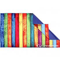 LIFEVENTURE SoftFibre Printed Trek Towel Striped Planks