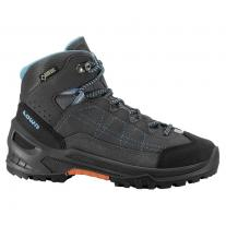 Kid´s footwear shoe LOWA Approach GTX Mid JR anthracite/turquoise