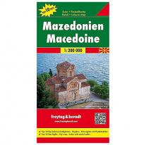 Maps road map Macedoine 1:200.000