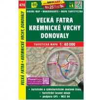 Maps map Velka Fatra, Kremnica Mountains, Donovaly 1:40.000