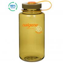 Hiking gear bottle NALGENE Wide Mouth Sustain 1.0 L Olive