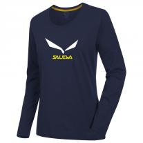 T-Shirt - Long Sleeve SALEWA Solidlogo 2 CO W L/S Tee night black