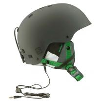 helmet SALOMON Brigade Audio Grey/Forest Green