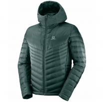 Outlet Clothing Men SALOMON Haloes Down Hoodie M green gables
