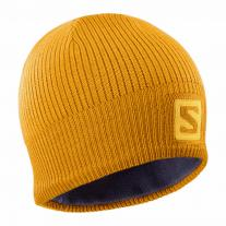 SALOMON Logo Beanie Autumn Blaze