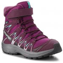 Outdoor shoes shoes SALOMON XA Pro 3D Winter TS CSWP J Dark Purple