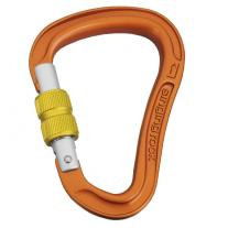 carabiner SINGING ROCK Bora Screw orange/yellow