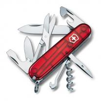 knive VICTORINOX Climber Transparent Red