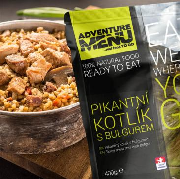 ADVENTURE MENU - Spicy meat mix with bulgur Click to view the picture detail.
