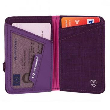 LIFEVENTURE RFiD Card Wallet purple Click to view the picture detail.