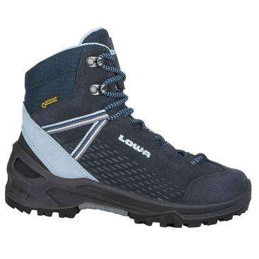 shoes LOWA Ledro GTX Mid JR navy/light blue Click to view the picture detail.