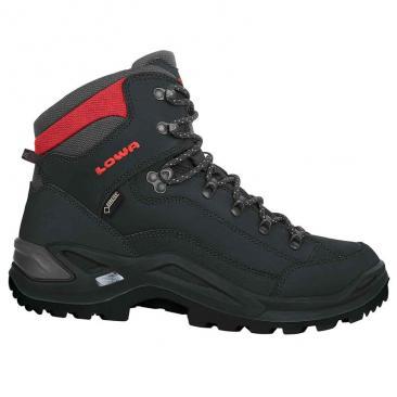 de66274b5f6f5 obuv LOWA Renegade GTX Mid black/red   sport-outdoor.sk