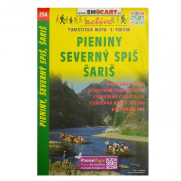 hiking map Pieniny, Severný Spiš a Šariš - SHOCART Click to view the picture detail.