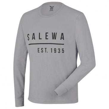 SALEWA Binne CO M L/S Tee grey melange Click to view the picture detail.