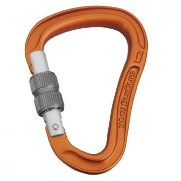 carabiner SINGING ROCK Bora Screw orange/grey Click to view the picture detail.