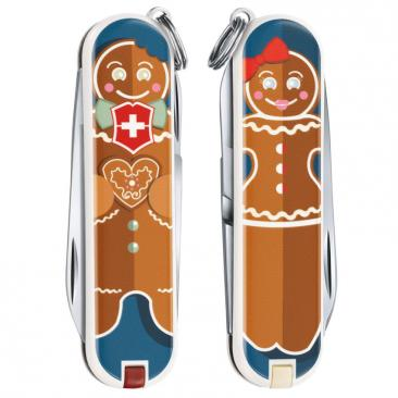 knife VICTORINOX Classic Gingerbread Love Click to view the picture detail.