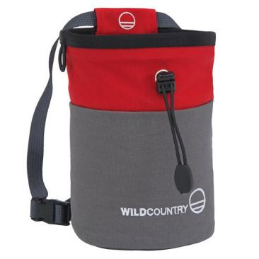 WILD COUNTRY Petit Bloc Chalk Bag grey-red Click to view the picture detail.