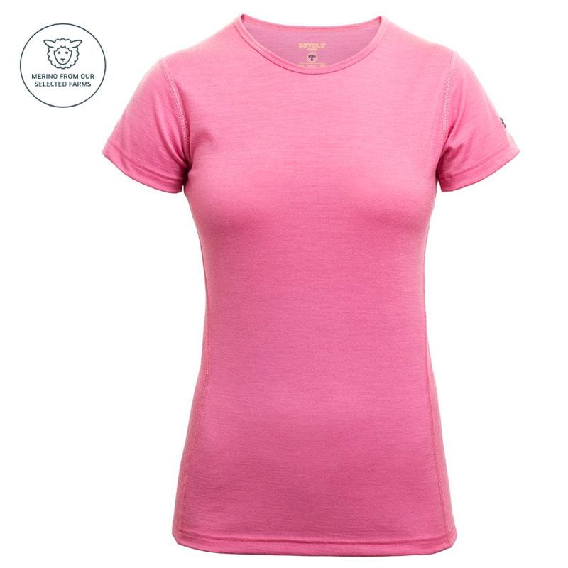ee62869227df triko DEVOLD Breeze Woman T-Shirt sweet