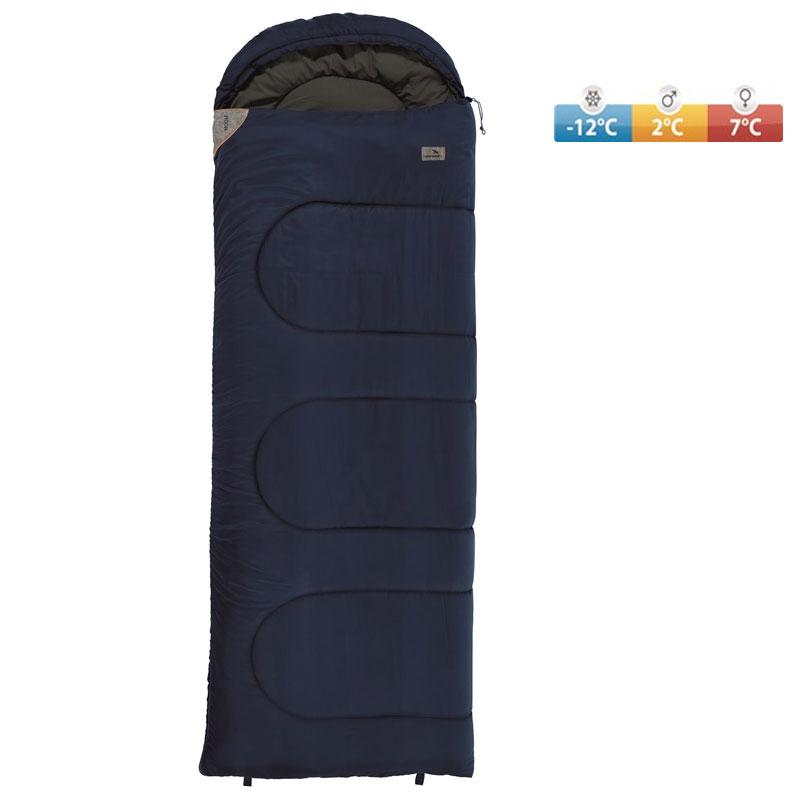 6a4c4c622f sleeping bag EASY CAMP Moon 195 R dark blue