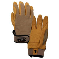gloves PETZL Cordex brown